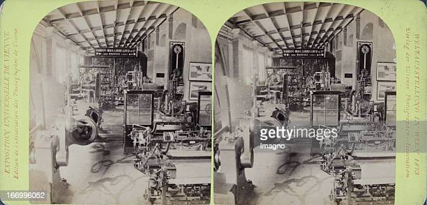 Machine hall Switzerland Publisher of the Vienna Photographers Association Stereo photograph Weltausstellung Wien 1873 Maschinenhalle Schweiz Verlag...