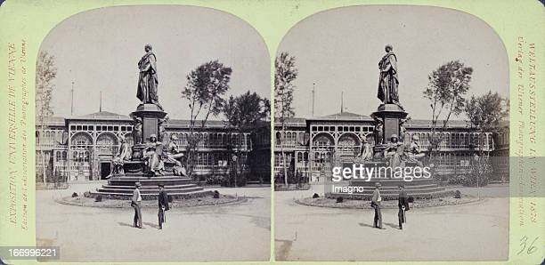 Monument Max II and German annex Publisher of the Vienna Photographers Association Stereo photograph Weltausstellung Wien 1873 Monument Max II und...