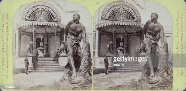 Pavilion of the French Commission Publisher of the Vienna Photographers Association Stereo photograph Weltausstellung Wien 1873 Pavillon der...