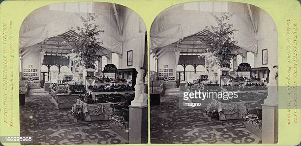 Pavilion of the young child Interior Publisher of the Vienna Photographers Association Stereo photograph Weltausstellung Wien 1873 Pavillon des...