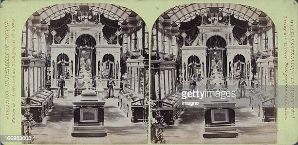 Romanian Gallery Publisher of the Vienna Photographers Association Stereo photograph Weltausstellung Wien 1873 Rumänische Galerie Verlag der Wiener...