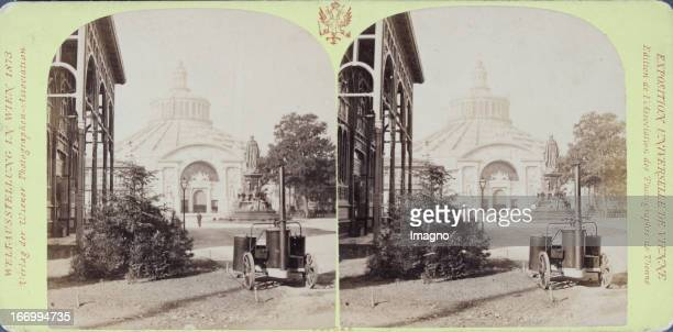 Rotunda Northern view Publisher of the Vienna Photographers Association Stereo photograph Weltausstellung Wien 1873 Rotunde Nordansicht Verlag der...