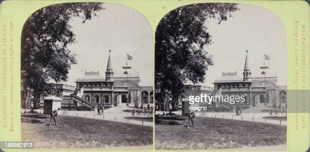 Russian Emperor pavilion Publisher of the Vienna Photographers Association Stereo photograph Weltausstellung Wien 1873 Russischer Kaiserpavillon...