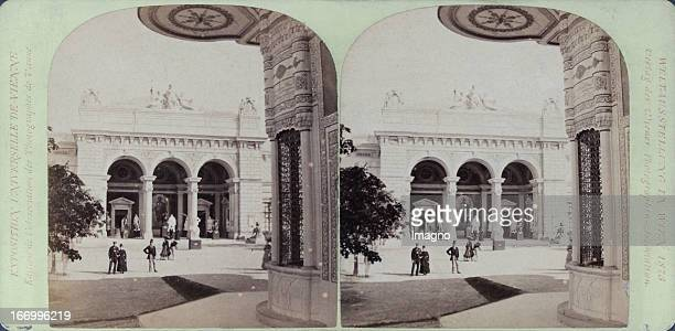 West portal of the Kunsthalle Publisher of the Vienna Photographers Association Stereo photograph Weltausstellung Wien 1873 Westportal der Kunsthalle...