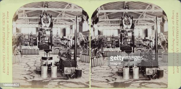 Western agriculture hall Belgium Publisher of the Vienna Photographers Association Stereo photograph Weltausstellung Wien 1873 Westliche...
