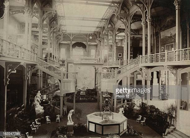 World Exhibition Paris Indoor view of the Pavillon de la Ville de Paris Print Private collection