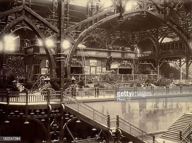 World Exhibition Paris Indoor view of the Pavillon des Eaux et Forets Print Private collection