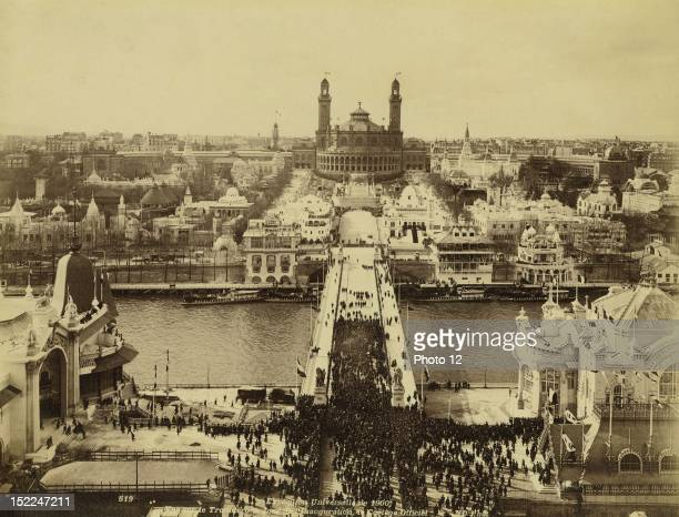 World Exhibition Paris View of the Trocadero on the Opening Day and Official Procession Photographer Neurdein Print Private collection