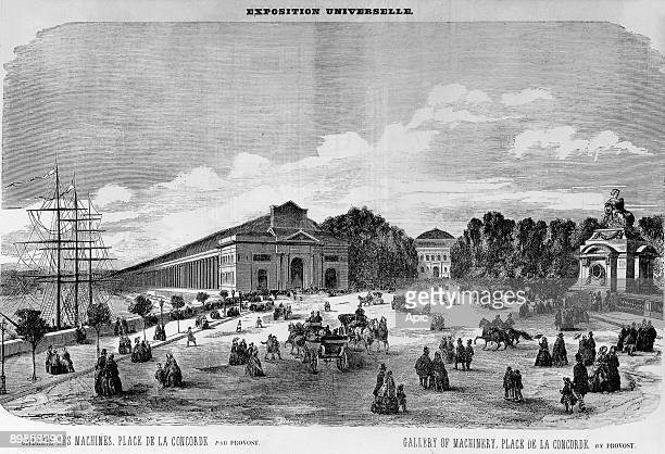 World Fair in Paris in 1867 engraving by Provost