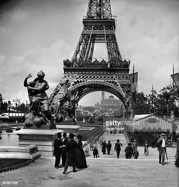 World Fair in Paris The Eiffel tower from the Champ de Mars