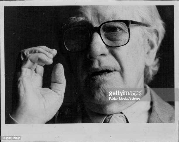 World famous Australian artist Sir Sidney Molan by the Wentworth HotelLandscapes and Legends 193787 is the title of the breathtaking Sidney Nolan...