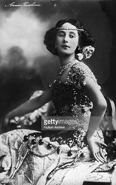 World famous Russian ballerina Anna Pavlova wearing a bejewelled costume