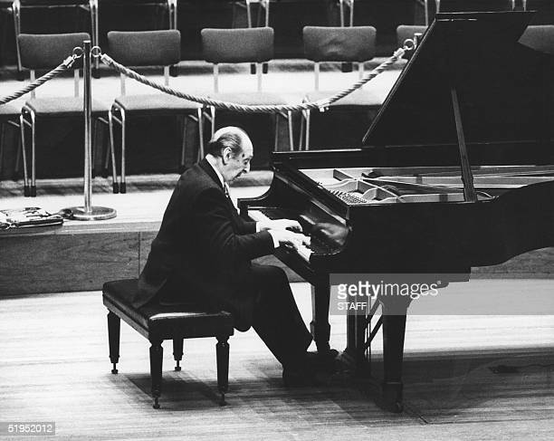 World famous Russian pianist Vladimir Horowitz during a performance that he gave at the Amsterdam Concert Building 26 November 1986