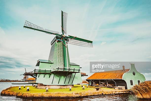 Mundialmente famosa moinhos de Países Baixos