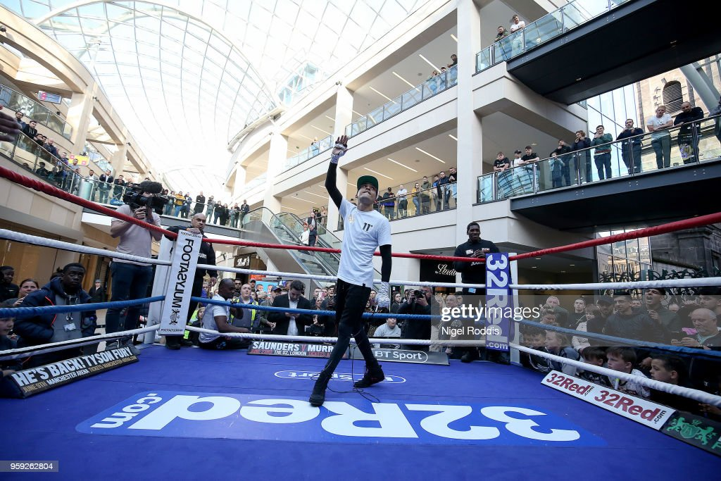 IBF World Featherweight Champion Lee Selby during a public workout in the Trinity Centre on May 16, 2018 in Leeds, England. Selby will defend his IBF World title against Josh Warrington on saturday at Elland Road Stadium in Leeds