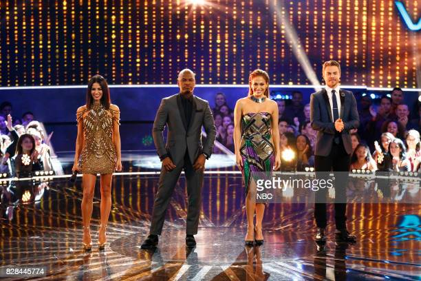 DANCE World Final Episode 110 Pictured Jenna Dewan Tatum NeYo Jennifer Lopez Derek Hough