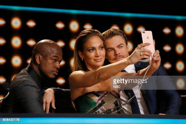 DANCE World Final Episode 110 Pictured NeYo Jennifer Lopez Derek Hough