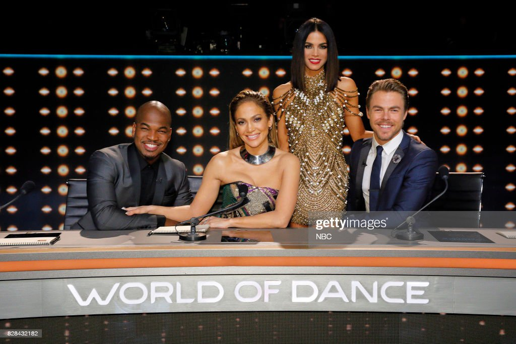 DANCE -- 'World Final' Episode 110 -- Pictured: (l-r) Ne-Yo, Jennifer Lopez, Jenna Dewan Tatum, Derek Hough --
