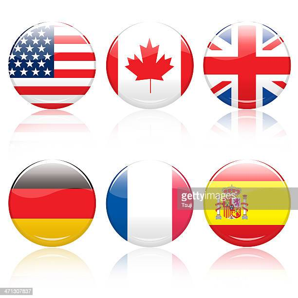 World flag pins