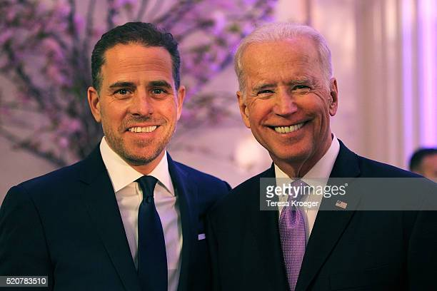 World Food Program USA Board Chairman Hunter Biden and US Vice President Joe Biden attend the World Food Program USA's Annual McGovernDole Leadership...