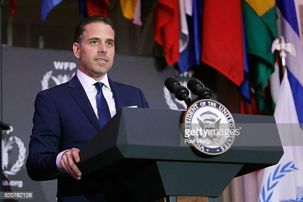 World Food Program USA Board Chairman Hunter Biden speaks at the World Food Program USA's Annual McGovernDole Leadership Award Ceremony at...