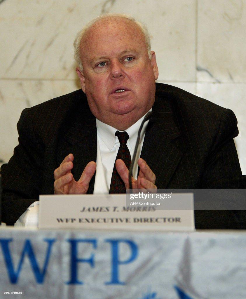 UN World Food Programme Executive Director James T  Morris gives a
