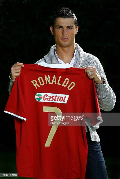 World footballer of the year Cristiano Ronaldo today signed a two year deal with FIFA World Cup Sponsor Castrol on April 2 2009 in London England...
