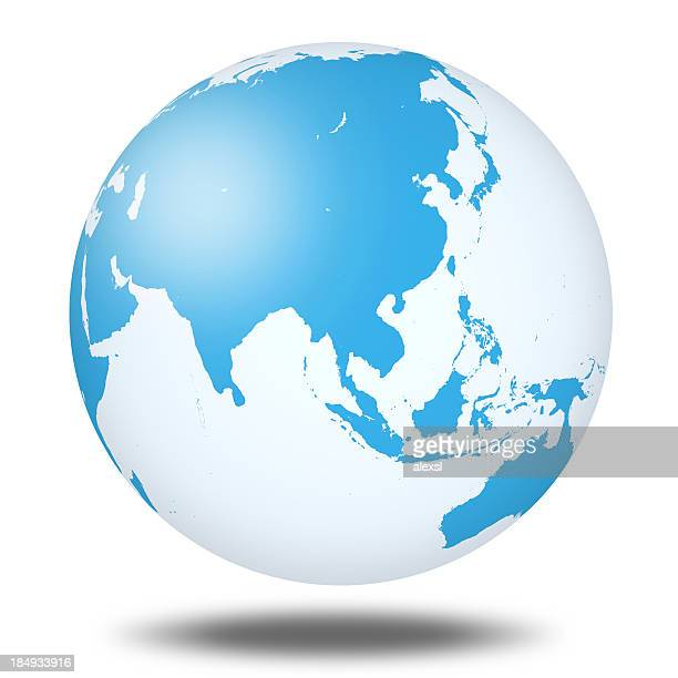 world globe - asia - china east asia stock photos and pictures