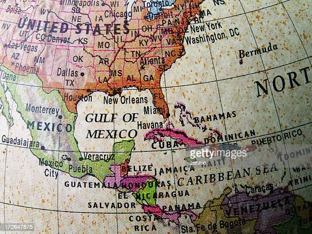 World Globe: Central America