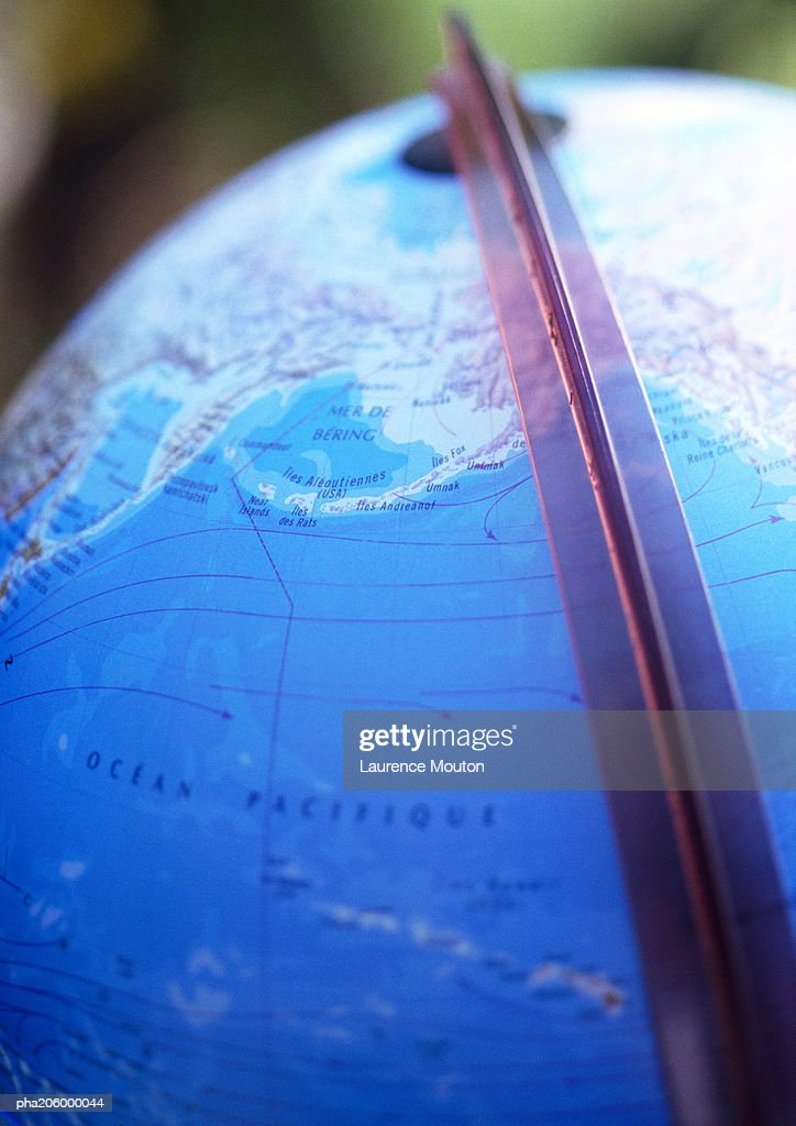 World globe, close-up. : Stockfoto