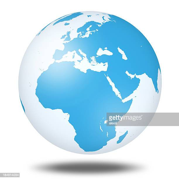 world globe - europe - northern europe stock pictures, royalty-free photos & images