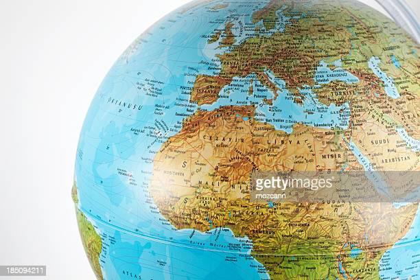 World Globe in geografischer