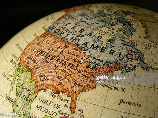 World Globe: North America