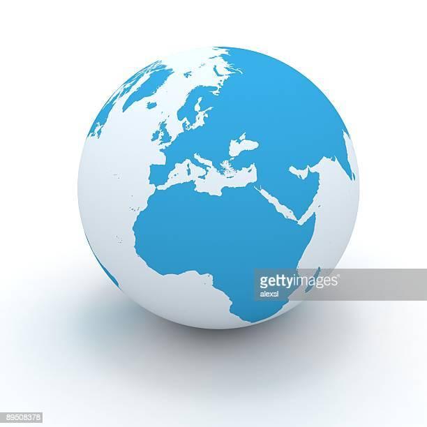 world welt - europa kontinent stock-fotos und bilder