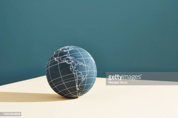 a world globe showing the americas - politics and government stock pictures, royalty-free photos & images