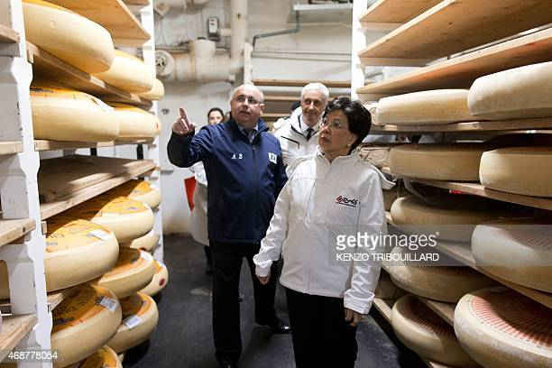 World Health Organisation chief Margaret Chan visits the Rungis international market in Rungis outside Paris on April 7 2015 to mark the World Health...