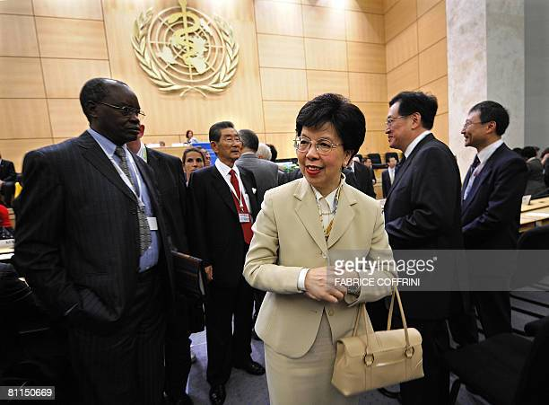 World Health Organization DirectorGeneral Margaret Chan arrives at the opening day at the opening day of the 61st World Health Organization assembly...