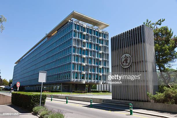 who world health organization headquarters in geneva, switzerland - world health organization stock pictures, royalty-free photos & images