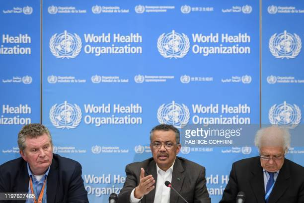 World Health Organization Health Emergencies Programme head Michael Ryan WHO DirectorGeneral Tedros Adhanom Ghebreyesus and WHO Emergency Committee...