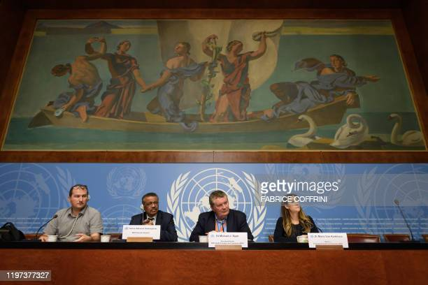 World Health Organization spokesman Tarik Jasarevic WHO DirectorGeneral Tedros Adhanom Ghebreyesus WHO Health Emergencies Programme head Michael Ryan...