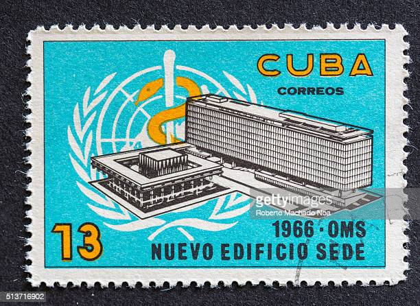 World Health Organization WHO new buildingCuban postage stamp 1966