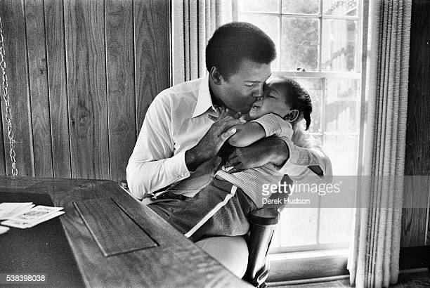 World Heaveyweight Champion boxer Muhammad Ali on set of the 1979 American TV movie being filmed near Natchez Mississippi under the direction of...
