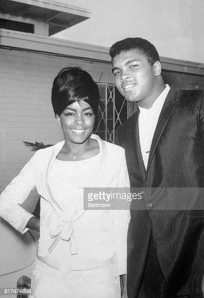 World heavyweight boxing champion Cassius Clay with Chicago model and wife Sonji Roi
