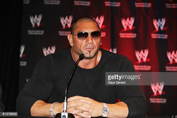 World Heavyweight Champion Batista attends the WWE Smackdown Photo Call at the Sheraton on the Park Hotel June 15 2008 in Sydney Australia