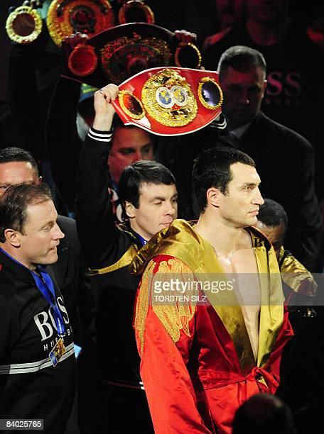 World heavyweight champion Vladimir Klitschko arrives for the fight against US challenger Hasim Rahman for the IBF and WBO heavyweight World...