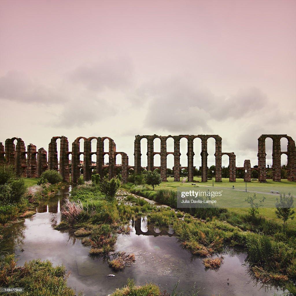 World Heritage Site in Merida : Stock Photo