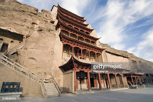 world heritage site of mogao caves - mogao caves stock pictures, royalty-free photos & images