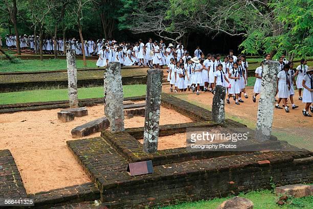 World Heritage Site the ancient city of Polonnaruwa Sri Lanka Asia ruins at Potgul Vihara site