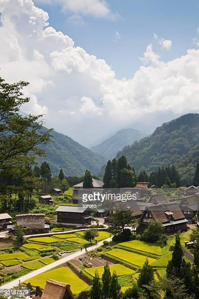 unesco world heritage village in mountains  - 富山県 ストックフォトと画像