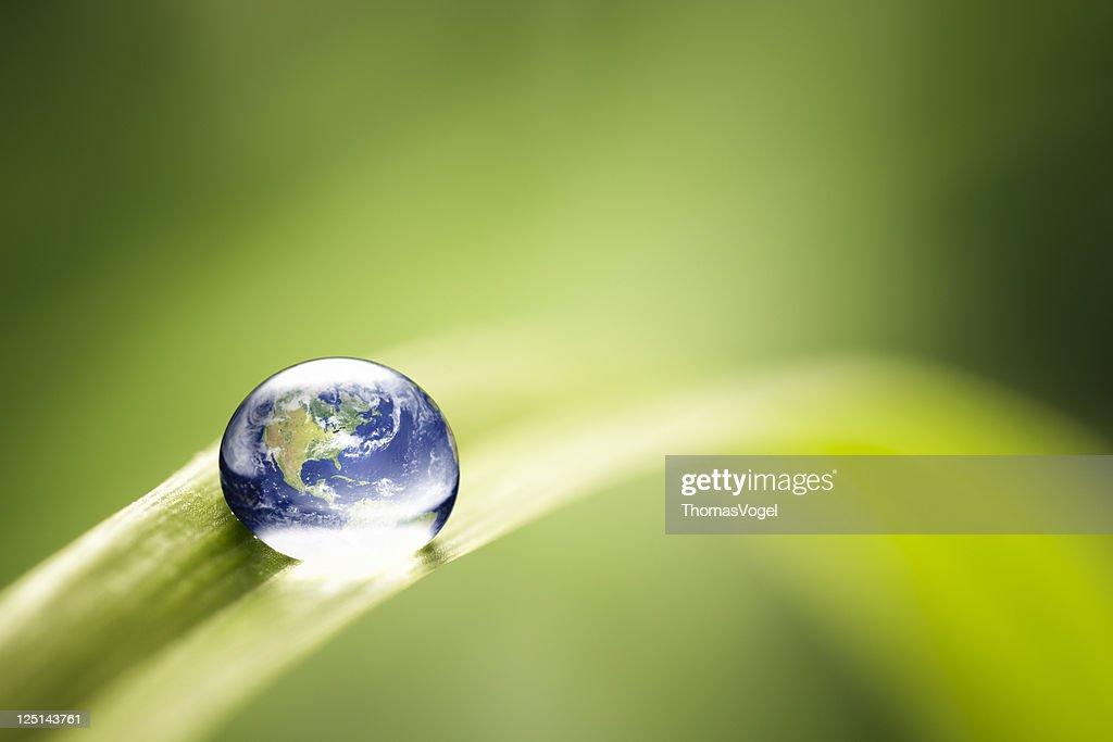 World in a drop - Nature Environment Green Water Earth : Bildbanksbilder